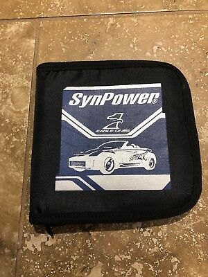 SynPower Eagle One CD COMPACT DISC ZIPPERED CASE HOLDS 26 DISCS (Case Holds One Cd)