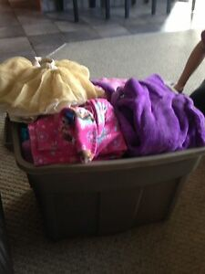 Bin of girls clothes size 2-3