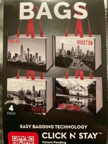 4 Pack  NEW COSTCO ECO REUSABLE BAGS Texas - Dallas Houston Austin San Antonio