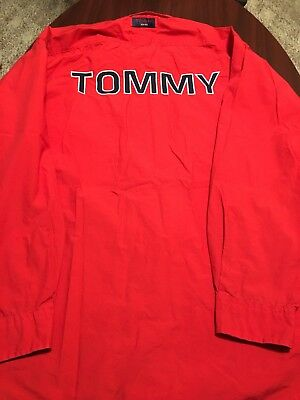 Vintage Tommy Hilfiger GIANT Spell Out L/S Mens Button Down Shirt Extra Large XL Titan L/s Shirt