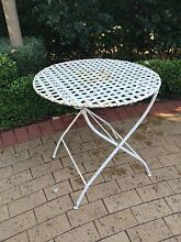 Forged Iron White Lattice Top Outdoor Table (LAST DAY) Hawthorn Mitcham Area Preview