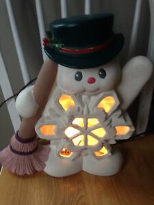 Ceramic snowman lamp  Kitchener / Waterloo Kitchener Area image 1
