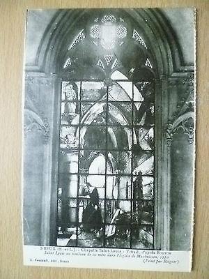 Postcard- DREUX, Chapelle Saint Louis-Vitrail, d'apres Bouton