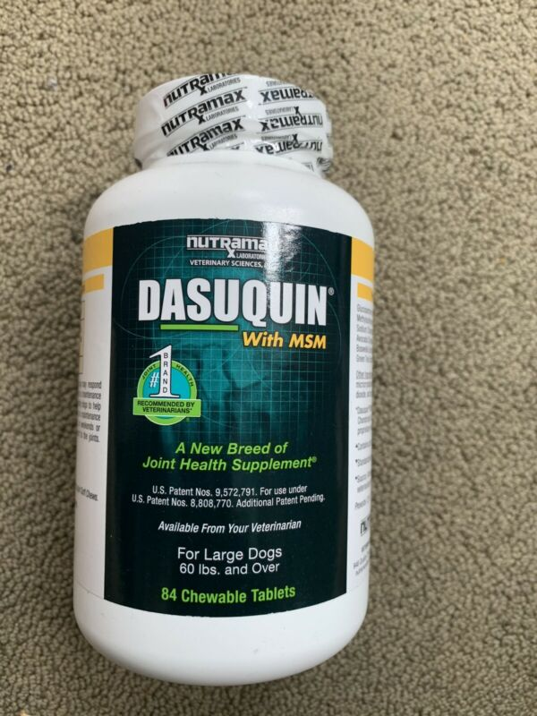 Nutramax Dasuquin w/MSM for Large Dogs 60lbs+ (84 Chewable Tablets)