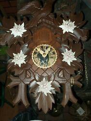 Hubert Herr Original Black Forest Cuckoo clock Birds and leaves