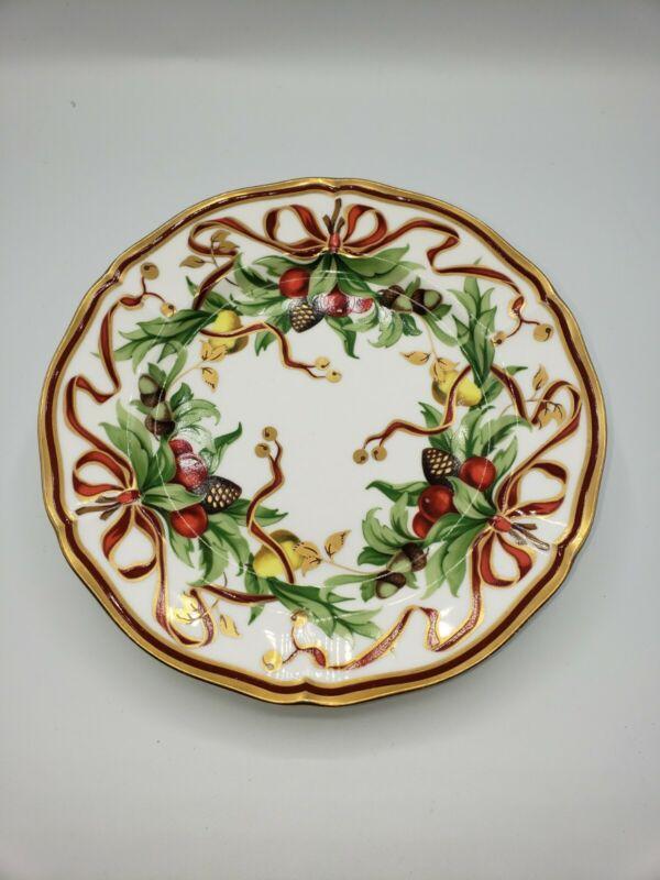 "Tiffany & Co. TIFFANY HOLIDAY 7 3/4"" Plate beautiful condition!"