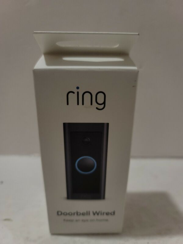 Ring Wi-Fi Video Doorbell Wired Black