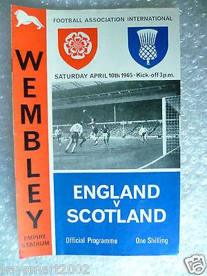1965 ENGLAND v SCOTLAND, 10th April (Home International Match)