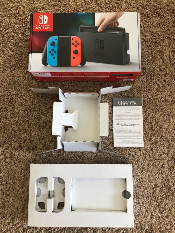 EMPTY BOX & INSERTS ONLY! For Blue & Red Joy Con Edition Nintendo Switch Box