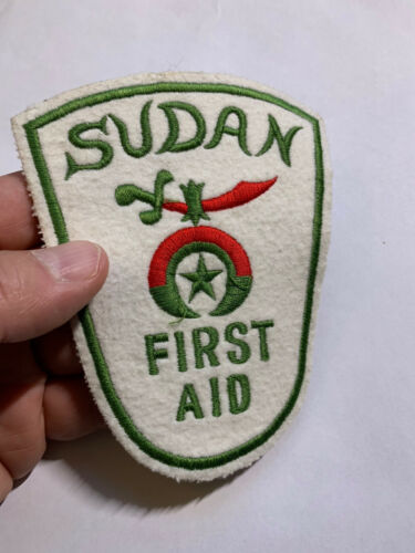 SUDAN First Aid Patch. Rare. Hard to find Africa rescue patch