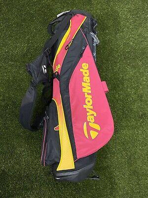 Taylormade Tourlite Stand Golf Bag Purple Yellow Black 4-Way Divide BRAND NEW!!