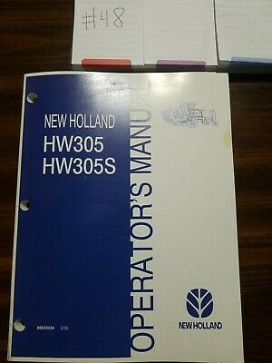 New Holland Hw305 Hw 305s Windrower Operators Manual