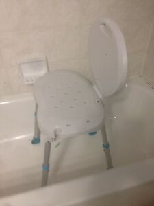 Bathroom safety shower tub bench / chair with adjustable Heights