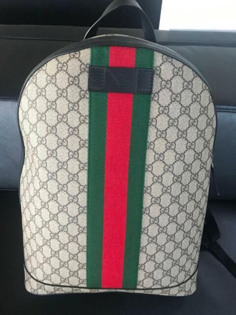 d9851578 Gucci Backpack Zip Top GG Supreme Web Detail | Bags | Gumtree ...