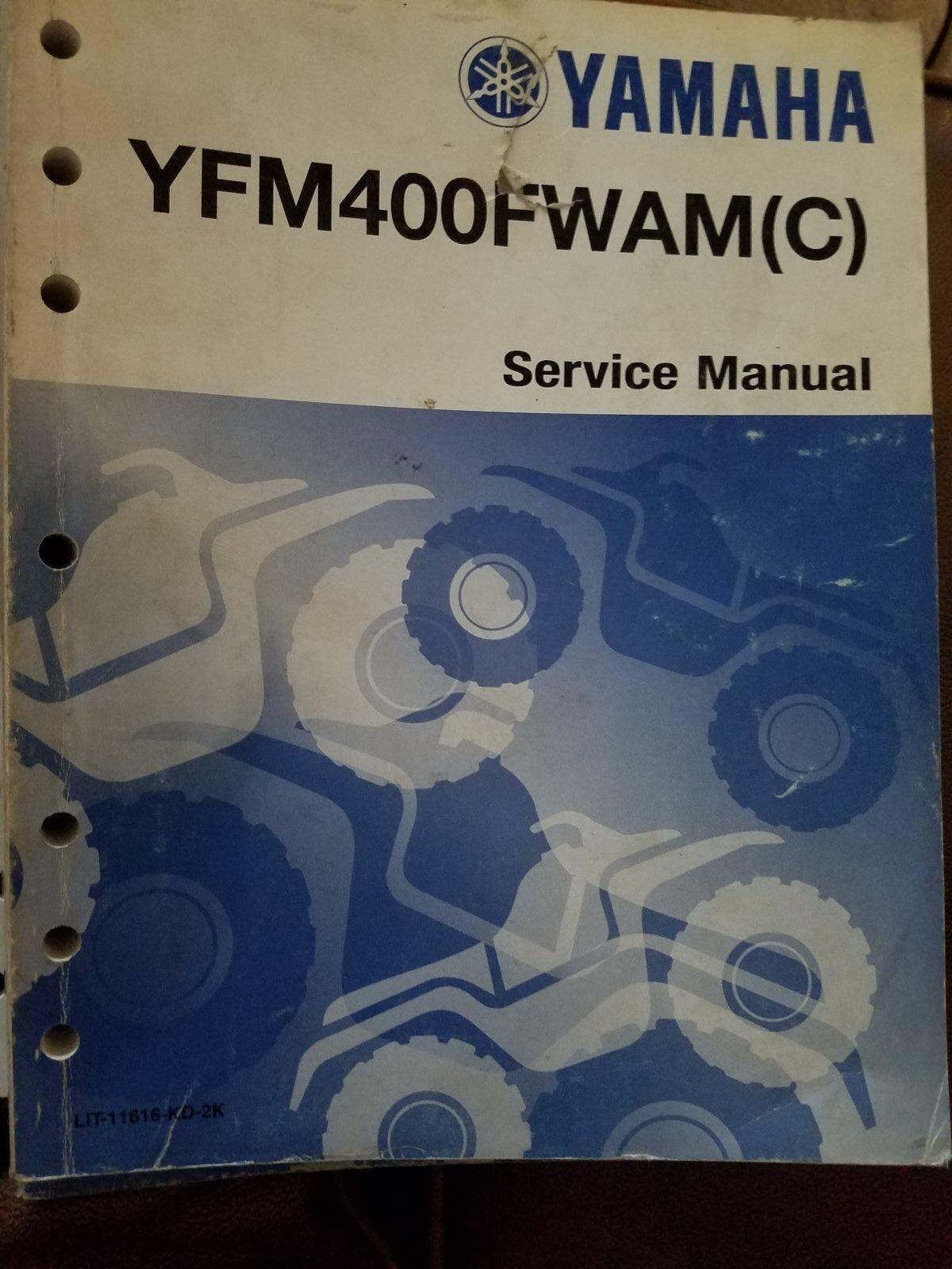 Used Yamaha Service Manual YFM400FWAM(C) LIT-11616-KD-2K