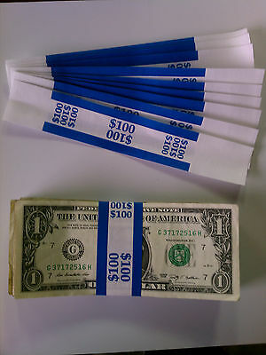 50 - New Self-sealing Currency Bands - 100 Denomination Straps Money Ones