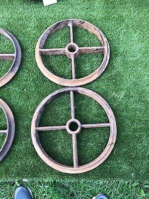 Pair Cost Iron Wheels