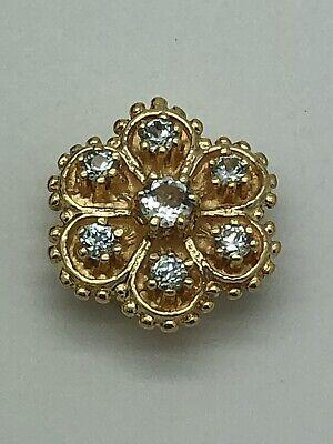 14k Yellow Gold KLJCI Richard Klein Flower Slide Bracelet Charm