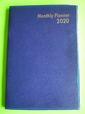 2020 Monthly Planner Blue Calendar Small 5x7 Expense Record Address Book