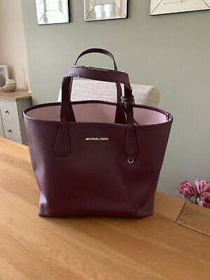 Burgundy Authentic Michael Kors Tote Bag