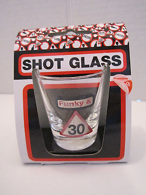 Decorations For 30th Birthday Party (Set of 4 shot glass for 30th birthday party celebration