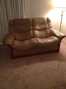 Ekornes Leather recliner couch