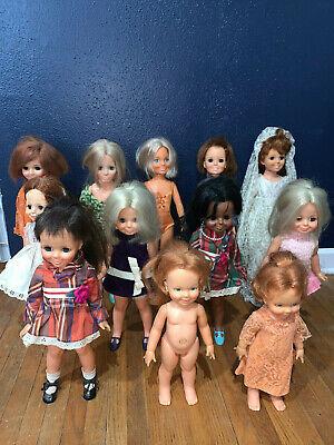 Ideal Crissy Family Doll Lot of 12 Kerry Brandi Velvet Cinnamon Bride -