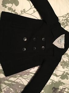 Girls black pea coat - size XS (5)
