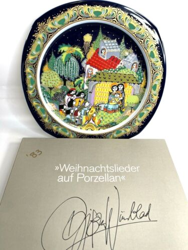 Rosenthal Bjorn Wiinblad Christmas Plate 1983 Christmas Carols w Original Box