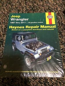 Haynes Manual 1987-2011 Jeep Wrangler