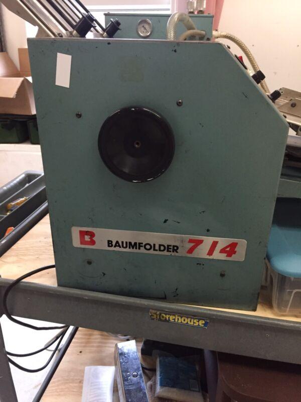 Baum *714*, Air Feed *Folder*, Tabletop, Dual Pump