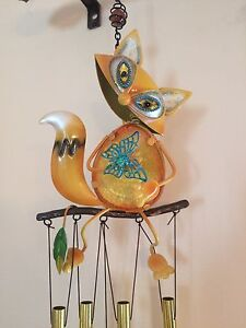 Wind Chime - Fox with Butterfly