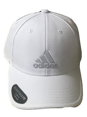 adidas Mens White-Gray Climalite Adjustable Cap Hat