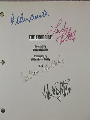 The Exorcist 1973 Signed Film Script Linda Blair Max von Sydow Ellen Burstyn rpt