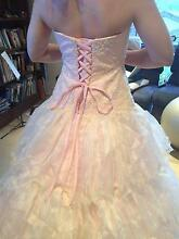 Stunning embroidered, beaded blush-pink wedding dress. Sz14-16 Sumner Brisbane South West Preview