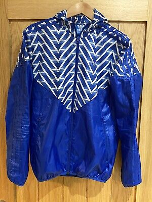 Mint Super Rare Vintage Adidas Originals Jacket Shellsuit Wind Blue White XS
