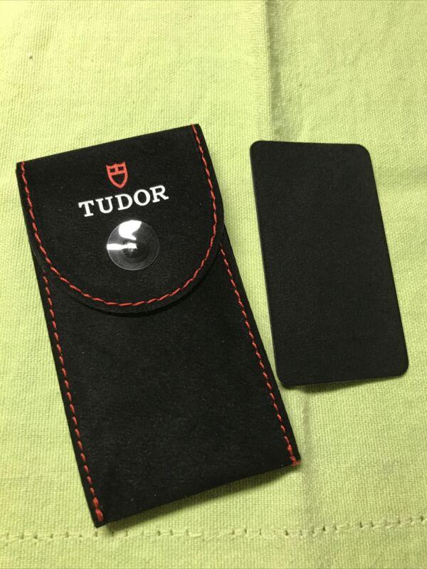 Rolex/ Tudor New Style service Velvet travel Pocket Pouch. W/ ⌚️support plate❗️