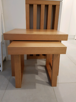 Timber side tables