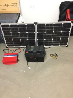 Solar power, battery, inverter