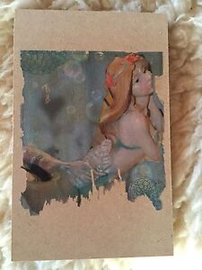 MERMAID ALLY on Wood--Hand-crafted