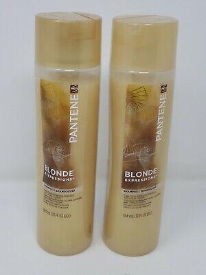 PANTENE PRO-V BLONDE EXPRESSIONS SHAMPOO LOT 2 COLOR ENHANCING LIQUID CRYSTALS Blonde Color Enhancing Shampoo