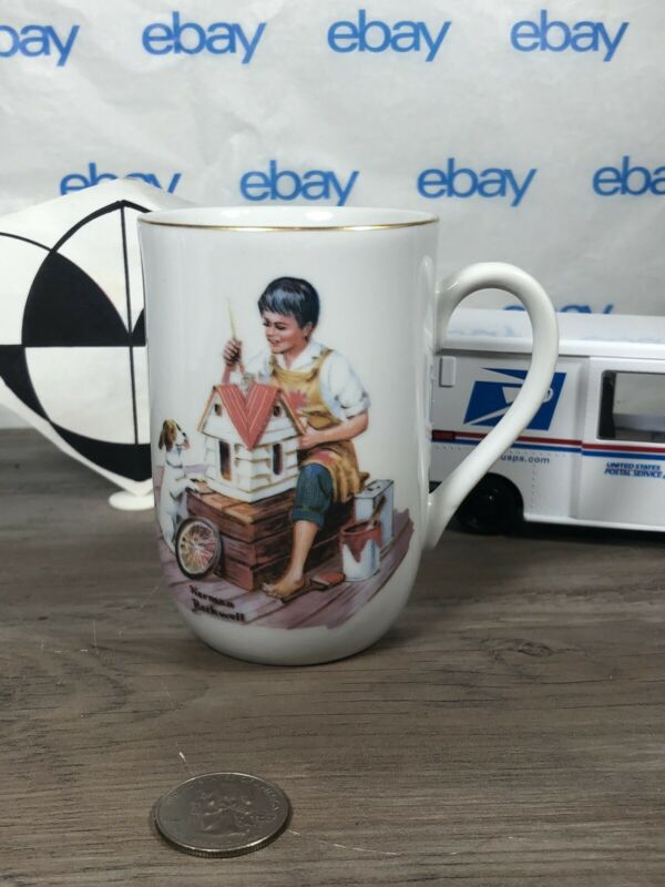"""1982 Norman Rockwell Museum """"A Dollhouse For Sis"""" Vintage Coffee Mug tea Cup"""
