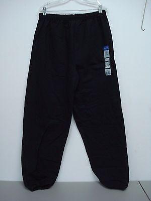 (NWT Men's Gildan Cotton Blend Sweatpants Size XL Black #121D)
