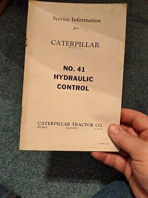 Caterpillar Vintage Operators Instructions Bookcatalog No 41 Hydraulic Control