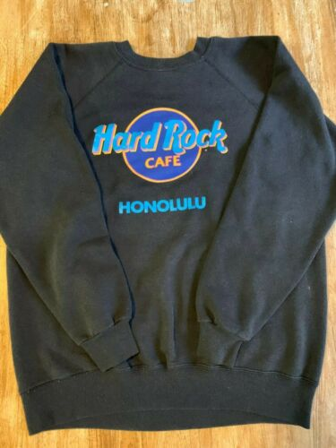 Vintage 90s Hard Rock Cafe Honolulu Sweatshirt SIZE LARGE SINGLE STITCH