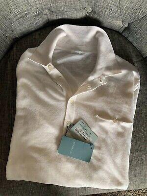 640€ RTL,Malo Men's Silk- Linen Polo Sweater US M IT 50 ,