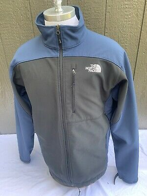 The North Face TNF ZIP Front Jacket Blue Black Mens Large