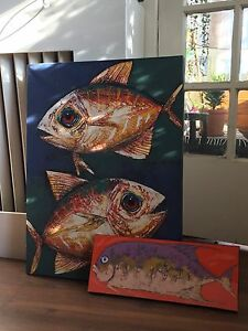 2 fish paintings Peterborough Peterborough Area image 1