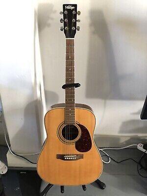 Vintage V400N Dreadnought Acoustic Guitar w/ solid spruce top