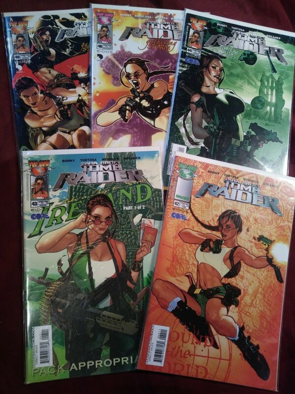 Lara Croft Tomb Raider #42 43 44 46 48 Adam Hughes Covers Lot